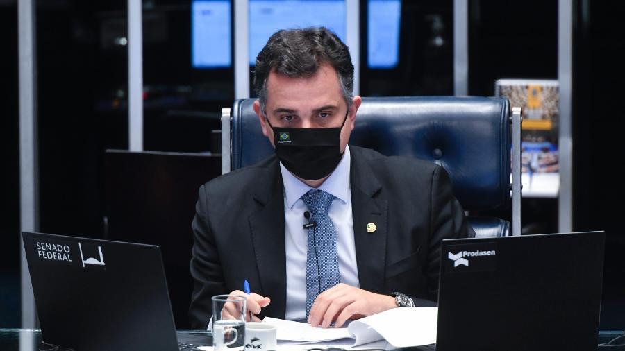 O presidente do Senado, Rodrigo Pacheco, durante sessão deliberativa - Leopoldo Silva/Agência Senado