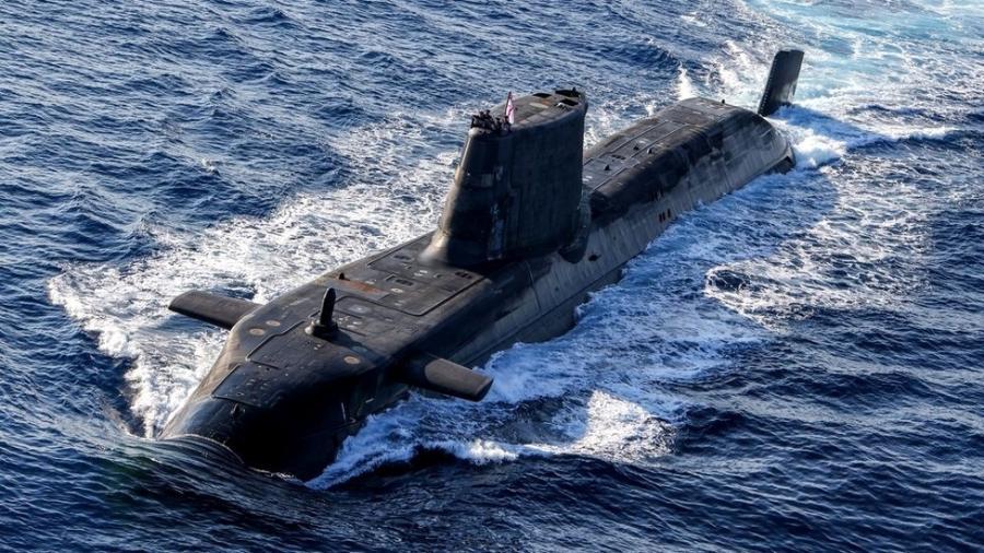 Na imagem: submarino nuclear do Reino Unido; pacto permitirá que Austrália construa embarcações do tipo - Ministério da Defesa
