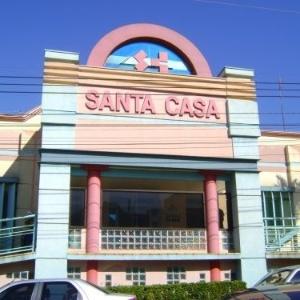 Fachada da Santa Casa de Sertãozinho