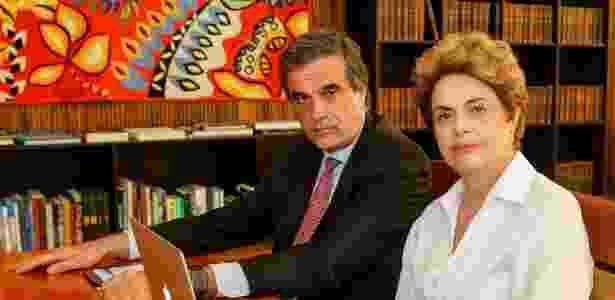 A presidente afastada Dilma Rousseff e o ex-advogado-geral da União José Eduardo Cardozo - Roberto Stuckert Filho/Divulgação