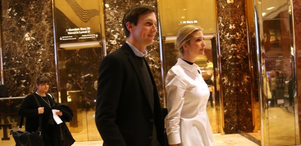 Jared Kushner, ao lado de Ivanka Trump