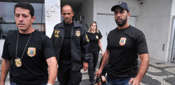 Agentes da Polícia Federal que fazem parte da força-tarefa da Lava Jato