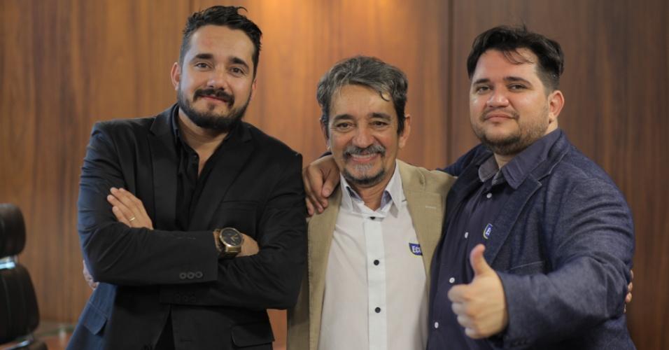 Da esq. para a dir., Leonardo, José Edmar e Leandro Castelo, donos da franquia Ecoville