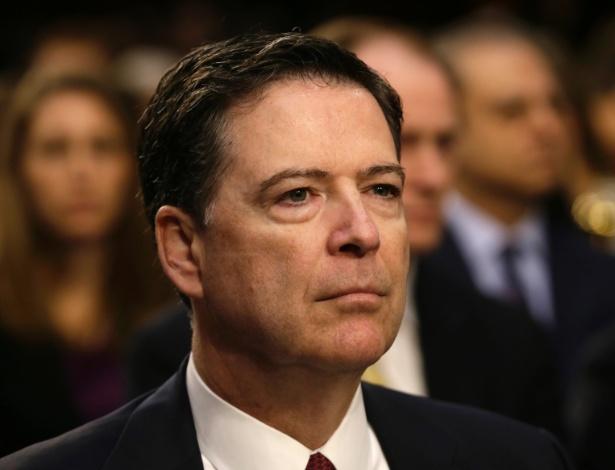 Ex-diretor do FBI, James Comey, ao depor em junho no Senado, em Washington