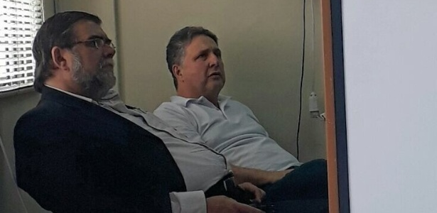 24.nov.2017 - Garotinho depõe em delegacia após sofrer suposta agressão na cadeia