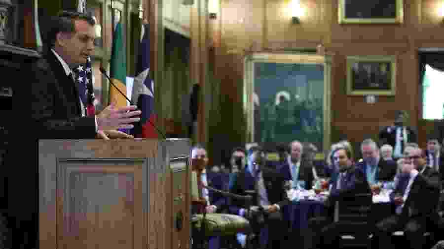 Bolsonaro esteve em Dallas durante dois dias e, na quinta, foi homenageado por grupo de empresários - Marcos Corrêa - 16.mai.2019/PR