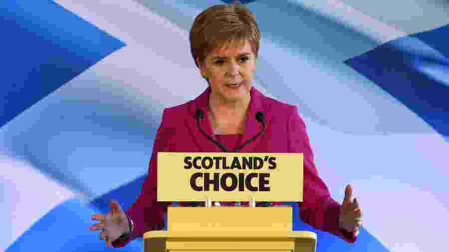Nicola Sturgeon, primeira-ministra e líder do Partido Nacional da Escócia, - SANDY BUCHANAN / AFP
