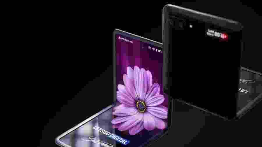 Galaxy Z, o novo celular dobrável da Samsung - Reprodução