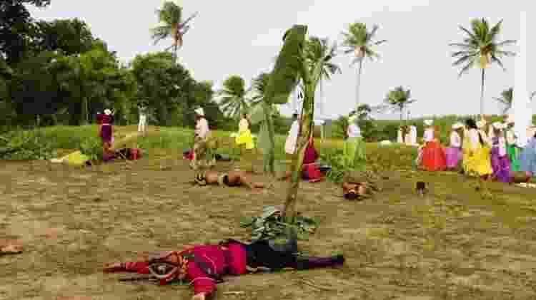 Soldados holandeses foram surpreendidos pelo grupo de mulheres do povoado - Grupo Cultural Heroínas de Tejucupapo/Divulgação