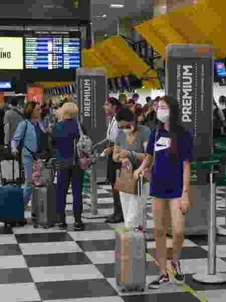 Vista do saguão de check-in do Aeroporto de Congonhas, na zona sul da cidade de São Paulo - Mister Shadow/Asi/Estadão Conteúdo