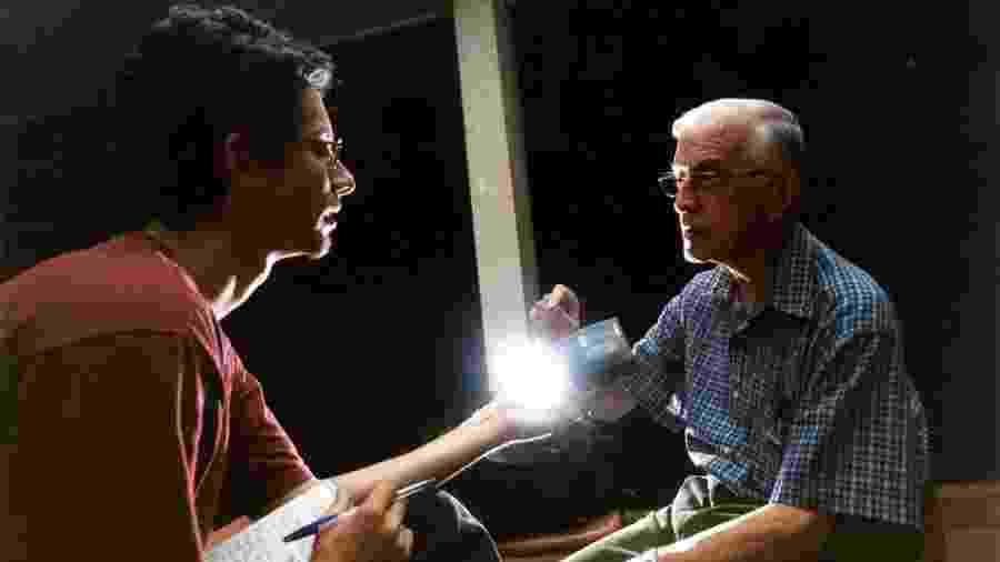 Camilo Vannuchi entrevista o bispo de São Félix do Araguaia, Dom Pedro Casaldáliga, em abril de 2002   - André Dusek/Acervo Pessoal
