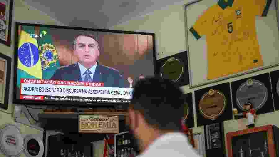 Discurso do presidente Jair Bolsonaro (sem partido) gerou mais preocupação do que tranquilidade no meio diplomático - Marcelo D. Sants/Framephoto/Estadão Conteúdo