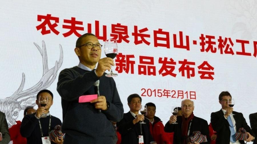 Zhong Shanshan, criador e proprietário de uma empresa de água engarrafada chamada Nongfu Spring - Jiang Xin/VCG via Getty Images