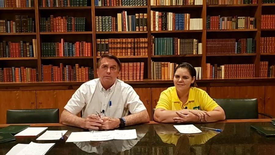Bolsonaro em live no último sábado (7) - Reprodução