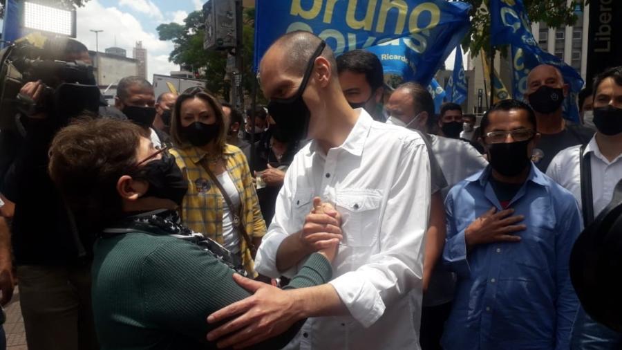 Bruno Covas durante evento em São Paulo - Wanderley Preite Sobrinho