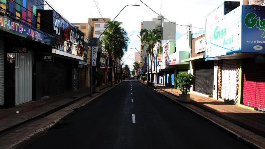 Lockdown na cidade de Araraquara devido ao colapso do sistema de saúde em decorrência da pandemia da covid-19 - SERGIO PIERRI/FUTURA PRESS/ESTADÃO CONTEÚDO