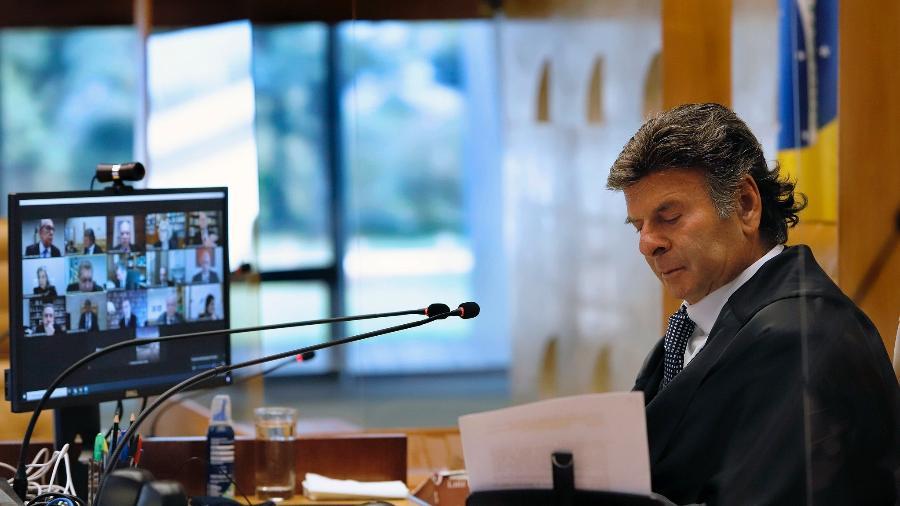 Presidente do STF, Luiz Fux, fez homenagem ao ator Paulo Gustavo na abertura da sessão do STF - Rosinei Coutinho/SCO/STF