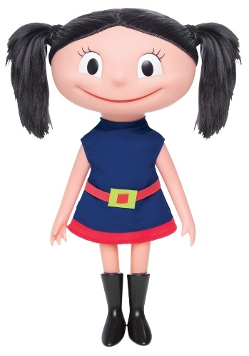 """Boneca Luna com som, da Estrela. Com cerca de 40cm de altura, ela """"fala"""" frases sempre ditas pela personagem no desenho, como """"Eu quero saber! Eu preciso saber!"""". Custa R$ 169,99"""