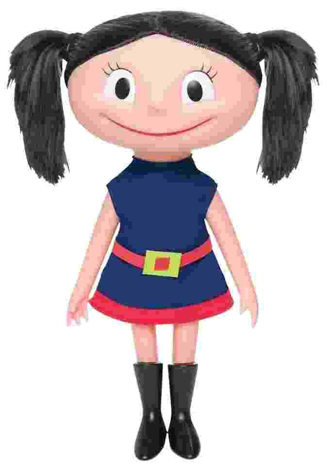 """Boneca Luna com som, da Estrela. Com cerca de 40cm de altura, ela """"fala"""" frases sempre ditas pela personagem no desenho, como """"Eu quero saber! Eu preciso saber!"""". Custa R$ 169,99 - Divulgação"""