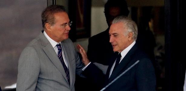 Renan Calheiros se reuniu com Michel Temer nesta quarta