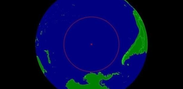 É o ponto no centro do Oceano Pacífico, o mais distante de qualquer continente ou ilha
