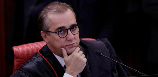 Ministro do TSE Admar Gonzaga durante sessão de julgamento da chapa Dilma-Temer no TSE