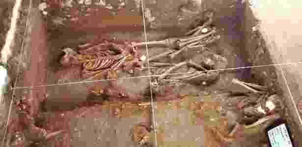 Ossadas foram encontradas em área de 4 metros quadrados - Wellington Alves/Secom Marechal Deodoro - Wellington Alves/Secom Marechal Deodoro