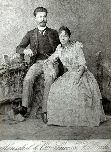 Emílio Ribas ao lado da mulher, Maria Carolina Bulcão (Dona Mariquinha)
