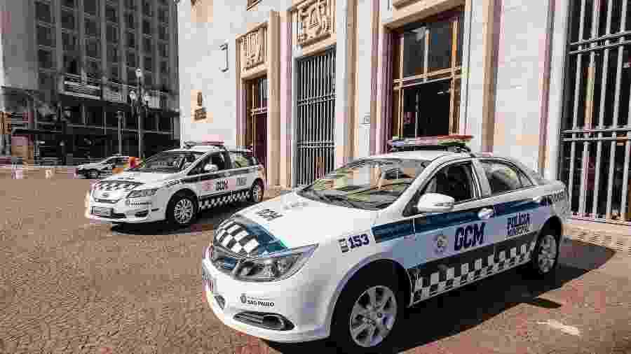 GCM em frente à entrada principal da Prefeitura de SP - Leon Rodrigues/Divulgação