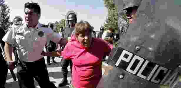 A repressão em San Salvador Atenco ocorreu em 2006, quando o atual presidente Enrique Peña Nieto era governador do Estado do México - AFP - AFP