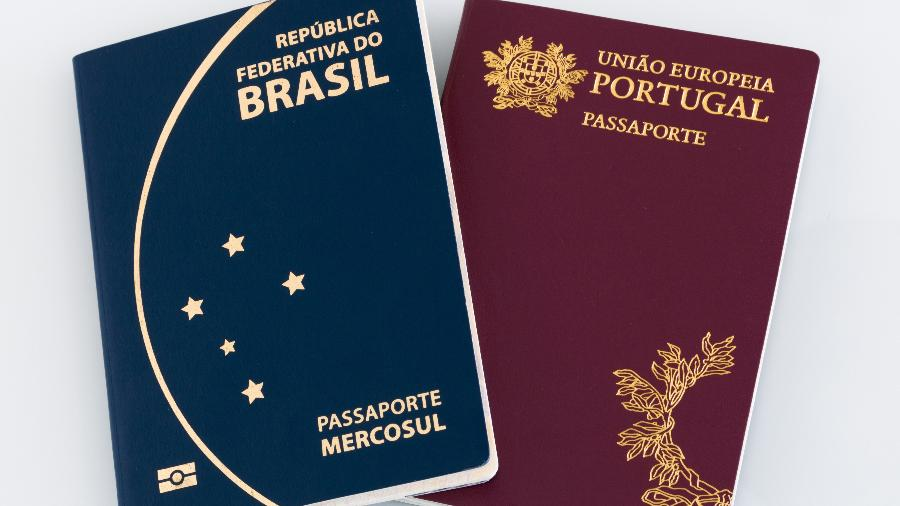 Passaporte do Brasil e de Portugal - Gabriel Ramos/Getty Images/iStockphoto