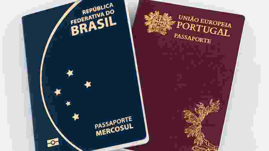 Passaporte do Brasil e de Portugal - Gabriel Ramos/Getty Images/iStockphoto
