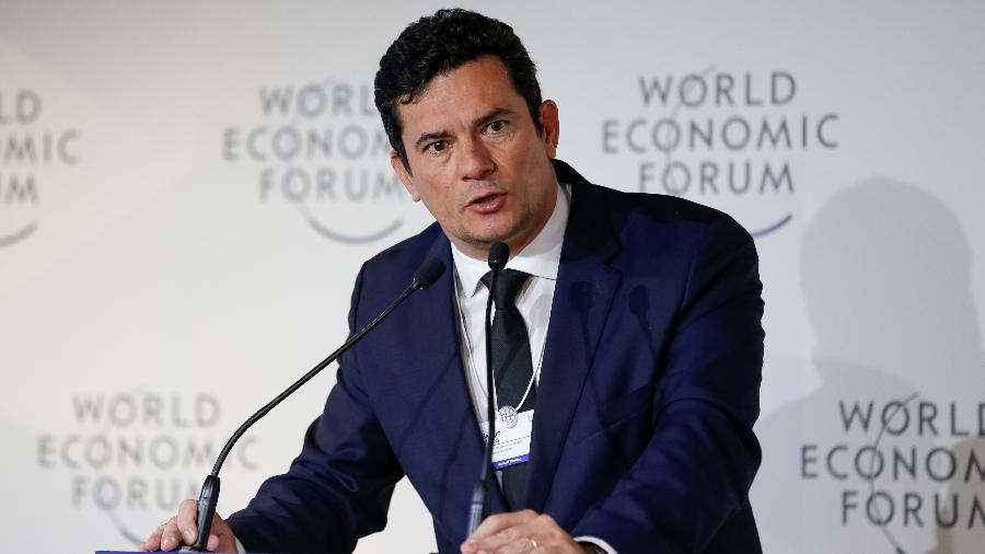 23.jan.2019 - Ministro de Estado da Justiça e Segurança Pública, Sérgio Moro, durante o Fórum Econômico Mundial, em Davos, na Suíça - Alan Santos/PR