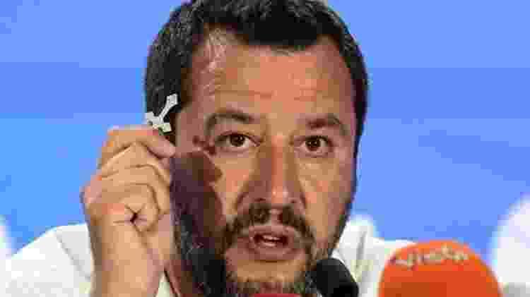 Matteo Salvini procura se posicionar como o líder dos blocos nacionalistas da Europa - AFP/BBC - AFP/BBC