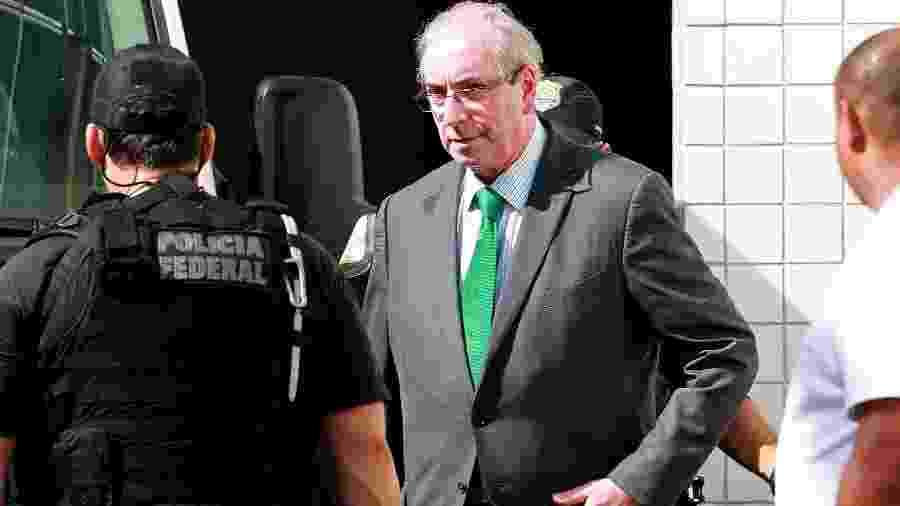 31.mai.2019 - O ex-deputado Eduardo Cunha (MDB) deixa o IML no centro do Rio após exame de corpo de delito - Wilton Junior/Estadão Conteúdo