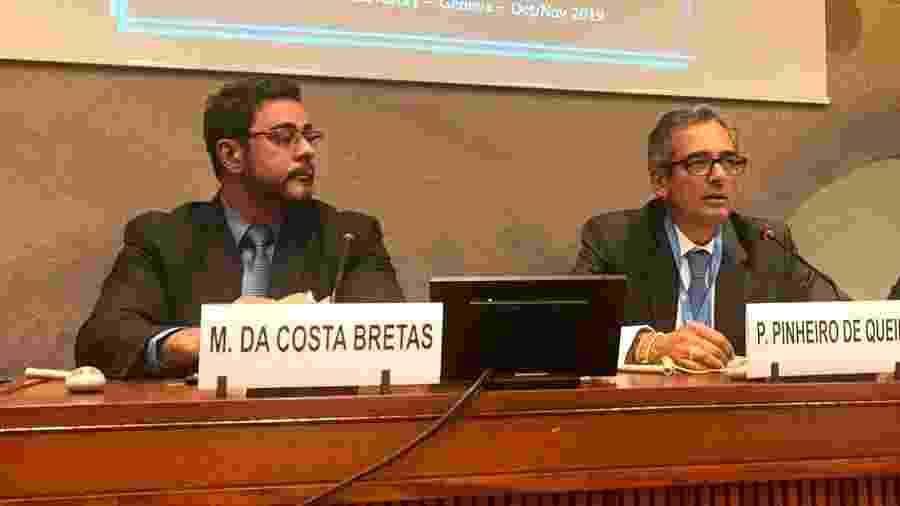 O juiz Marcelo Bretas e o ex-delegado Protógenes Queiroz em evento na Suíça - Jamil Chade/UOL