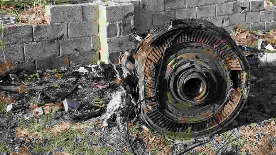 08.jan.2020 - Avião da Ukraine International Airlines com 176 pessoas a bordo caiu no Irã - AFP