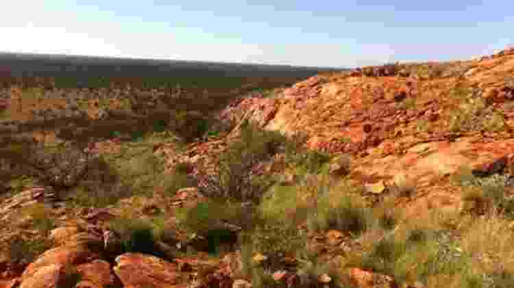 Vista da cratera de Yarrabubba - TIMMONS ERICKSON