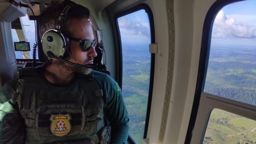 Hugo Loss, então coordenador de operações de fiscalização do Ibama, em Brasília, durante operação no sul do Pará. Ele foi exonerado do cargo nesta quinta-feira (30). - Álbum de família