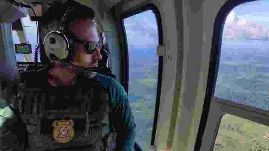 Hugo Loss, então coordenador de operações de fiscalização do Ibama, em Brasília, durante operação no sul do Pará em 2020 - Álbum de família