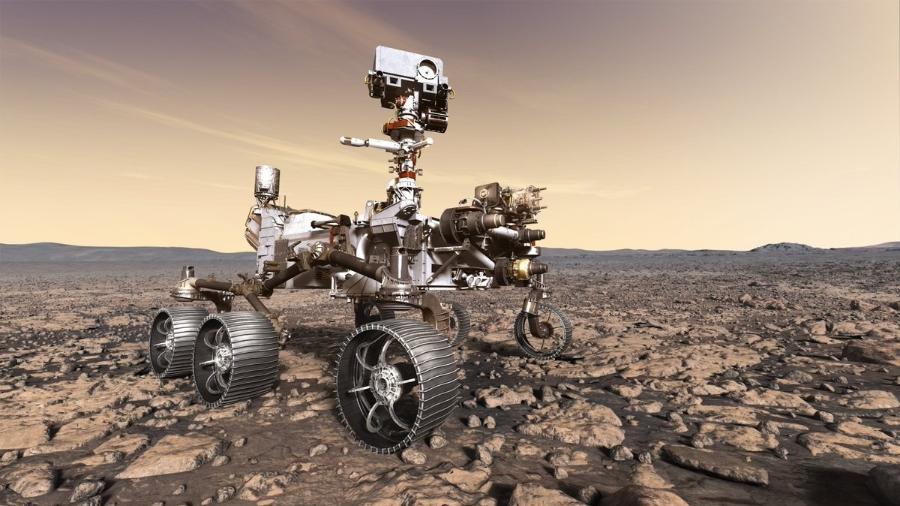Rover Perseverance em ilustração da Nasa - Nasa