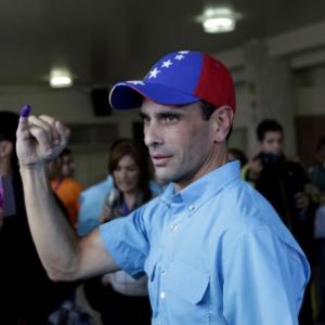 O opositor ao governo da Venezuela, Henrique Capriles