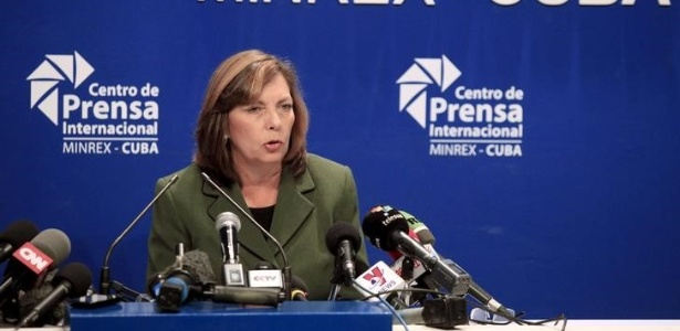 Josefina Vidal, diretora para assuntos ligados aos EUA no Ministério das Relações Exteriores em Cuba