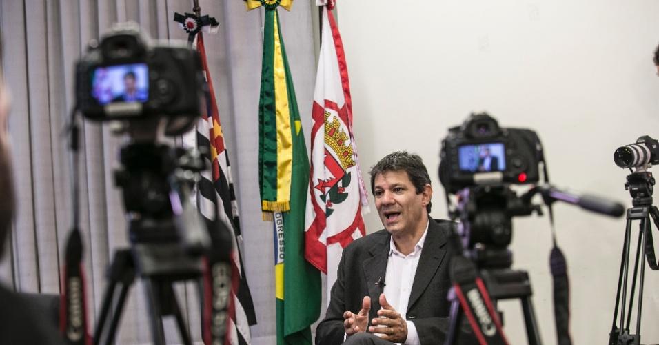 19.fev.2016 - A Prefeitura de São Paulo irá receber, no total, R$ 250 milhões desviado pelo ex-prefeito e antigo aliado de Haddad, Paulo Maluf (PP)