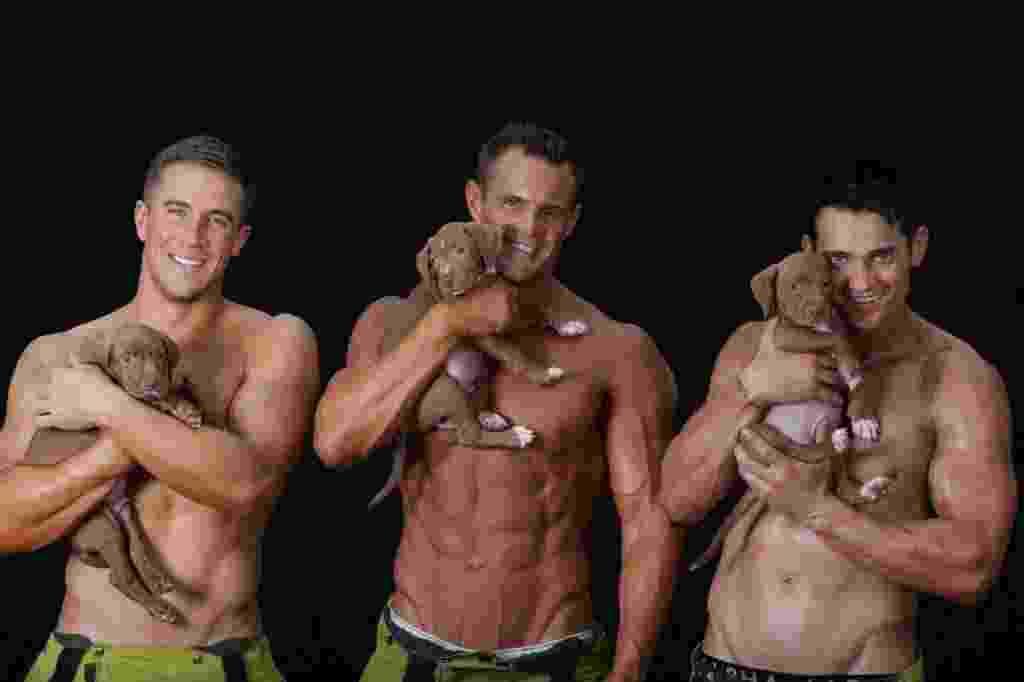 25.abr.2016 - Acompanhados por lindos animais, os bombeiros vão estampar os 12 meses do ano na Austrália. Desde 1993 os bombeiros australianos posam para um calendário, com o objetivo de arrecadar fundos para instituições e causas sociais. Na próxima edição, o calendário vai ajudar angariar verba para a Safe Haven Animal Rescue Inc, uma instituição que cuida de animais abandonados. Em 2015, eles arrecadaram mais de US$ 1 milhão para o hospital infantil e para a unidade de queimados do hospital de Westmead - Reprodução/Facebook