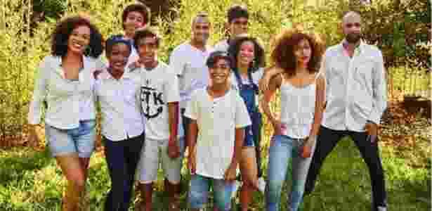 O filho de Noêmia, Noan, ao lado da nova geração da família Colonna - Anderson Benjamim - Anderson Benjamim