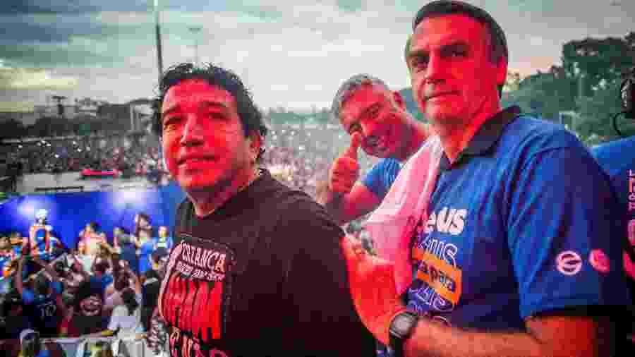 31.mai.2018 - Participam da Marcha para Jesus Magno Malta, Major Olímpio  e Jair Bolsonaro - Edson Lopes Jr./UOL