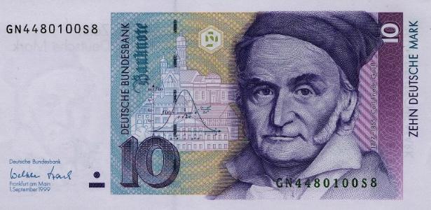 Nota de 10 marcos alemães: cédula ainda pode ser trocada por euro; valor é de cerca de 5 euros, ou R$ 22. - Banco Central Alemão / Bundesbank