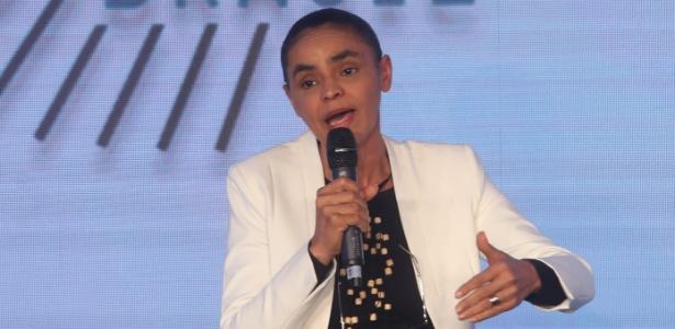 7.ago.2018 - Marina Silva participa de evento com presidenciáveis em São Paulo