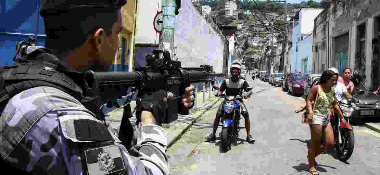 8.fev.2019 - Polícia Militar realiza operação no Morro do Fallet no Rio de Janeiro (RJ), nesta sexta-feira (8); durante operação, 14 pessoas foram mortas - BETINHO CASAS NOVAS/ESTADÃO CONTEÚDO